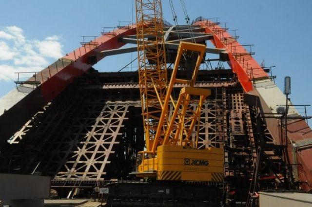 Строительство Бугринского моста