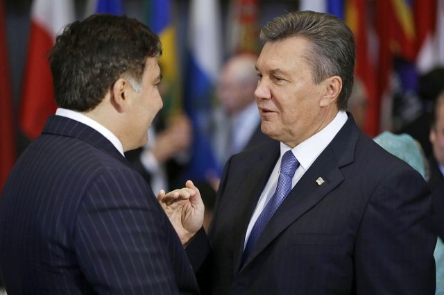 Михаил Саакашвили и Виктор Янукович