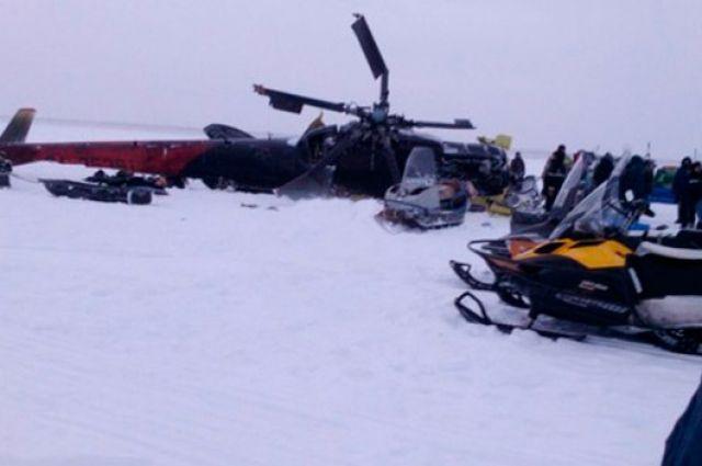 За спасение погибавших после крушения вертолета награду получат пять человек.