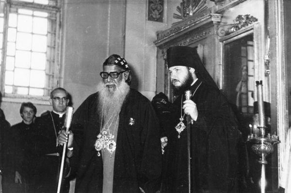 Встреча иностранной делегации в Ленинградской духовной академии. 1970-е годы.