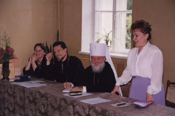 В православной гимназии в Смоленске. 1990-е годы.