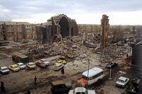 Разрушенный центр города Ленинакан (ныне Гюмри).