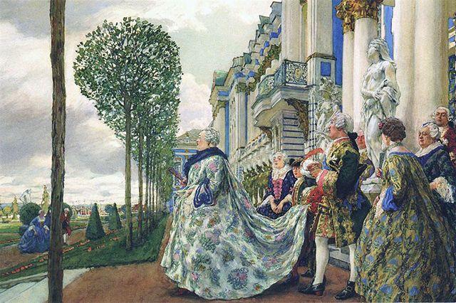 Императрица Елизавета Петровна в Царском Селе. Евгений Лансере, 1905 г.