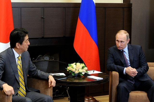 Абэ пообещал принять В.Путина вЯпонии как дорогого гостя