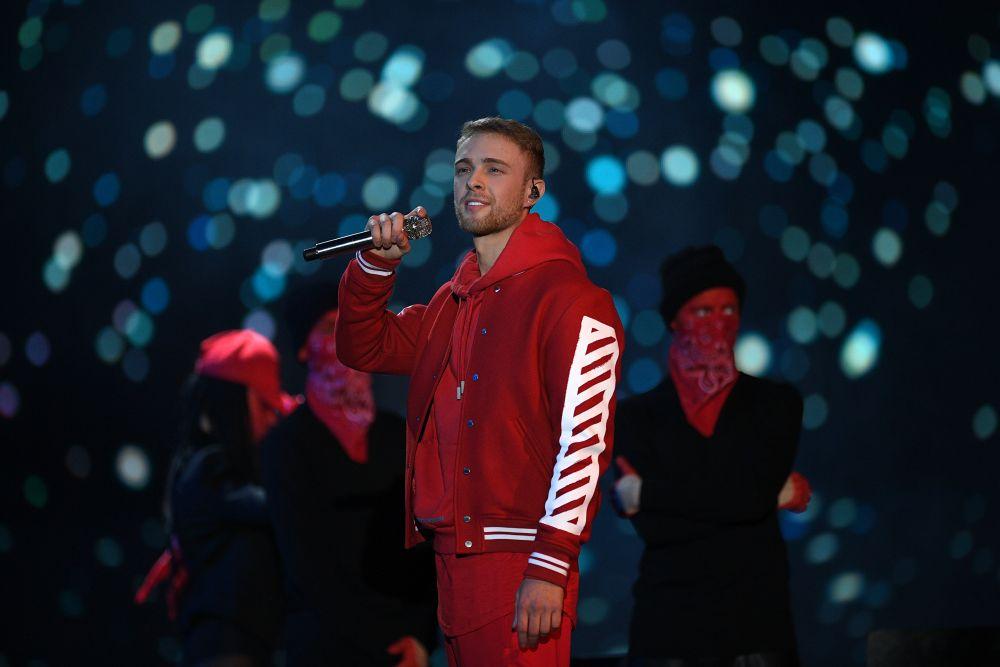 Певец Егор Крид наXXI Церемонии вручения национальной музыкальной премии «Золотой граммофон» вСК«Олимпийский» вМоскве.
