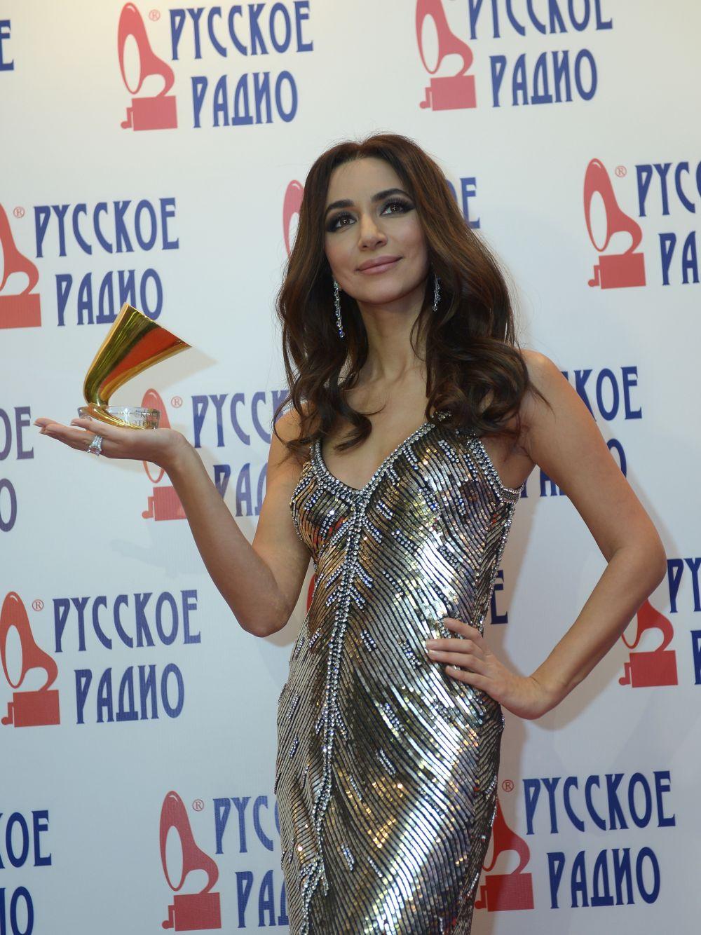 Певица Зара наXXI Церемонии вручения национальной музыкальной премии «Золотой граммофон» вСК«Олимпийский» вМоскве.