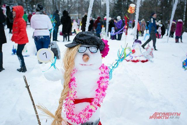 Снеговики тоже у всех разные.