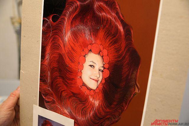 Образ «Красное солнце», созданный пермским мастером постижа.