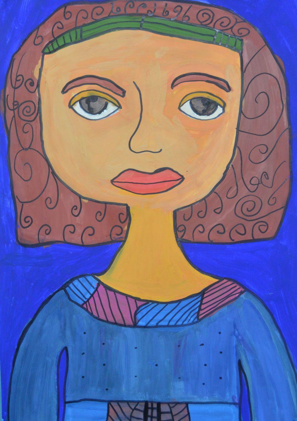 Участник №38.«Мою маму зовут Анастасия. Она красивая как Мона Лиза. У нее такие же выразительные глаза и милая улыбка».