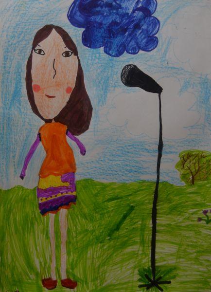 Участник №36.«Моя мама Наташа работает воспитателем. Моя мама очень красиво поет. Папа купил ей караоке. Теперь по выходным мы всей семьей слушаем ее песни».