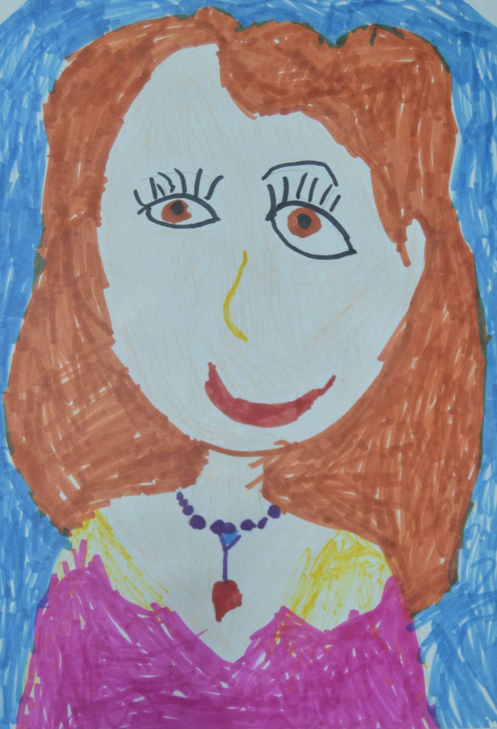 Участник №41. «Мою маму зовут Света. У нее длинные волосы и черные как угольки глаза. Она вкусно готовит нам с папой пироги. Моя мама лучшая на свете. Она мой самый лучший друг».