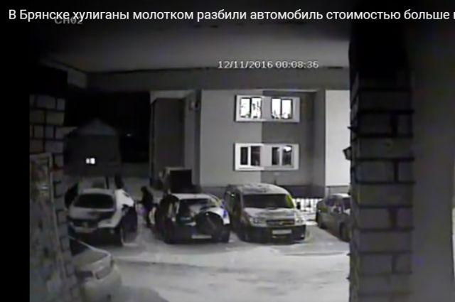 Неизвестные смолотками изуродовали дорогую машину вБрянске
