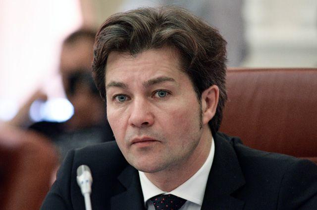 Министр культуры Украины Евгений Нищук на заседании Кабинета министров Украины в Киеве.