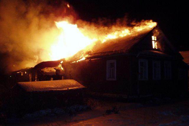 Напожаре вВологодской области умер мужчина
