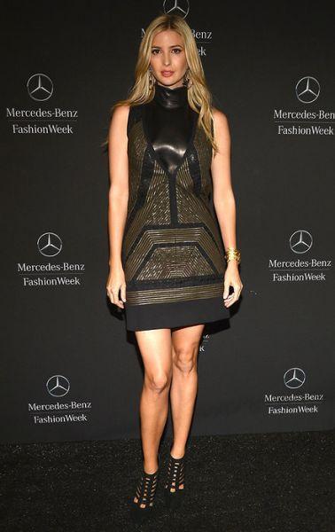 Иванка старается выглядеть по-разному, экспериментирует также и с кожаными платьями