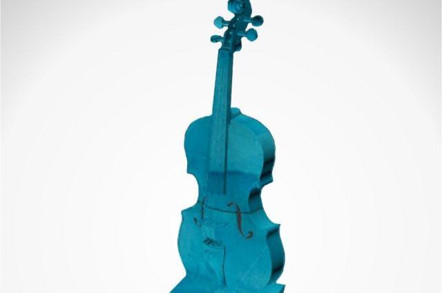 ВОмске перед Концертным залом появится внушительная ледяная скрипка