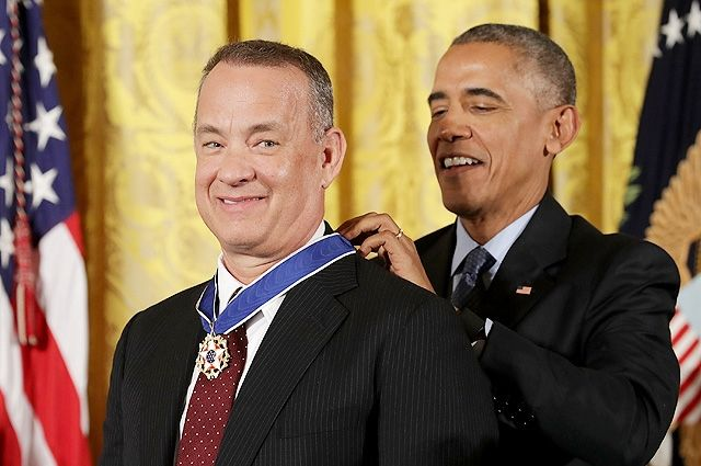 Барак Обама и Том Хэнкс