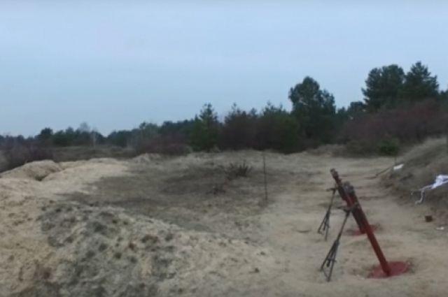 Минометы перед началом стрельб