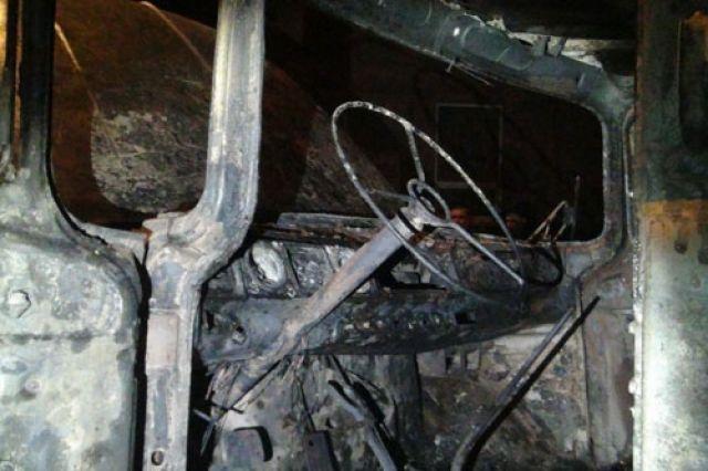 ВКотласском районе шофёр сгорел вмашине после лобового столкновения