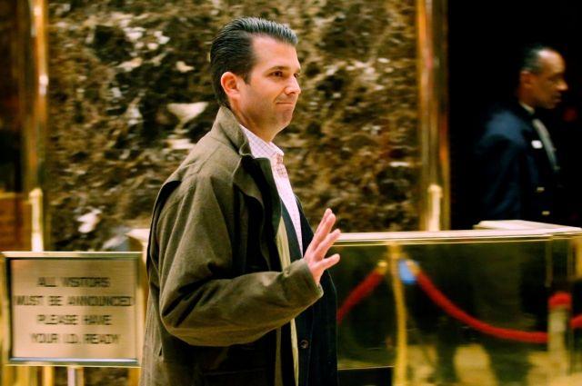 СМИ узнали овстрече сына Трампа со любителями сотрудничества сРоссией