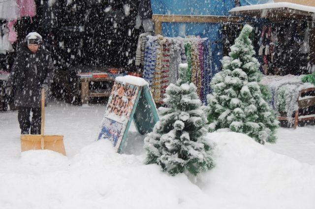 Снегопад снова вызвал заторы в9 баллов вКрасноярске