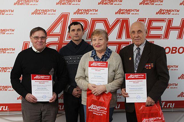 Б. И. Трегубов, С. С. Кошкаров, Н. В.Куркова, В. Н. Долгодворов (слева направо)