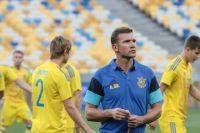 Андрей Шевченко с игроками сборной Украины