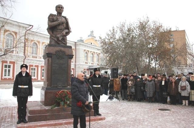 Монумент изготовили по проекту коллектива в составе Александра Абрамова, Александра Виноградова, Майи Кирилловой и Владимира Акулова.