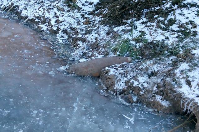 Опасная находка была уничтожена там же, где и найдена, на берегу озера в Оренбургском районе.