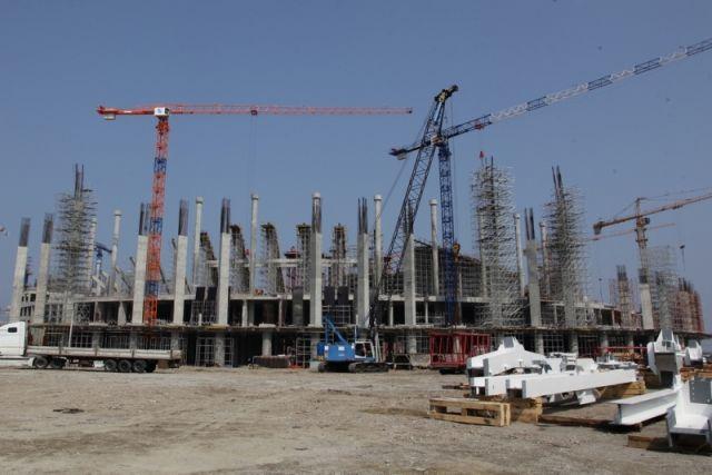 Каркас крыши стадиона «Нижний Новгород» собран неменее чем на30%