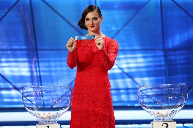 Елена Исинбаева участвовала в жеребьевке.