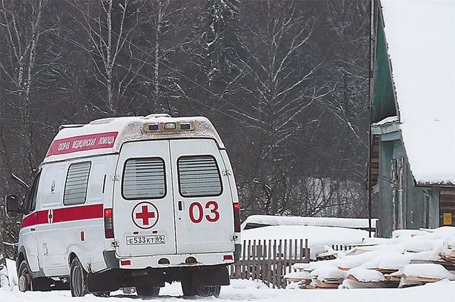 Машина скорой помощи спациенткой попала вДТП вСанкт-Петербурге