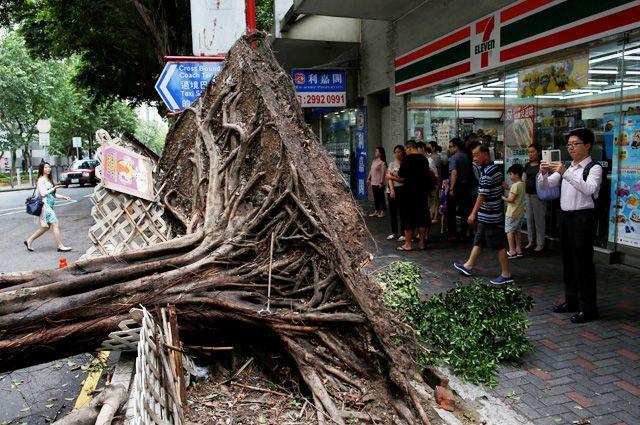 В Китайская народная республика объявлен повышенный уровень угрозы из-за приближающегося тайфуна