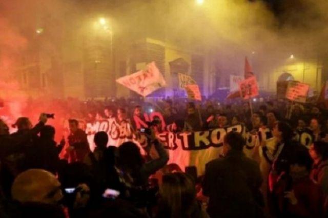 ВИталии прошли массовые акции против конституционной реформы