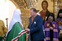 Полпред в СЗФО Цуканов получил орден от патриарха Кирилла за строительство храма