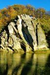 Скала Спасения (Петушок) на реке Псекупс в Горячем Ключе. Автор - Рагдай.