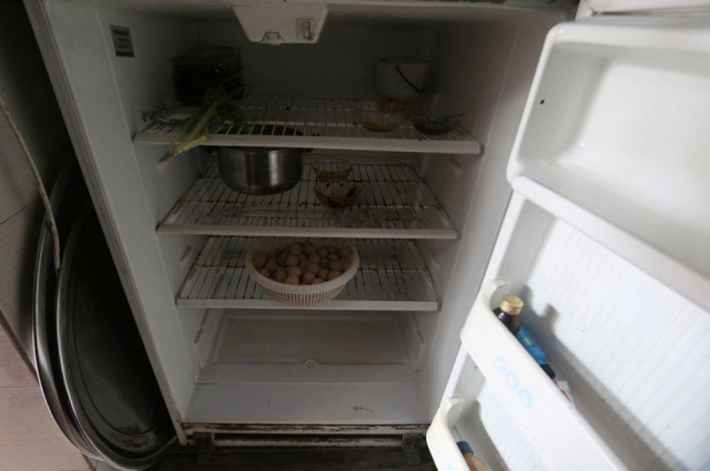 Холодильник в одном из домов в Алеппо.
