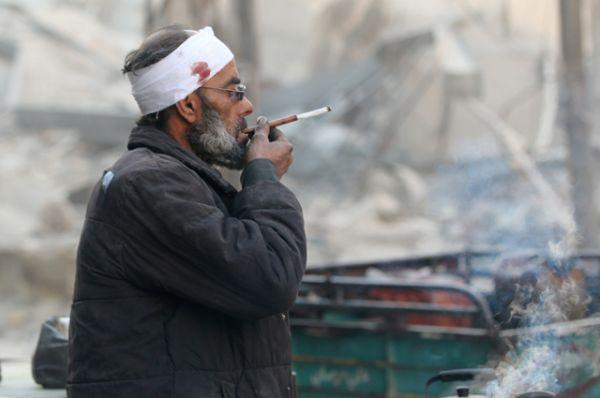 Уличный торговец в Алеппо.