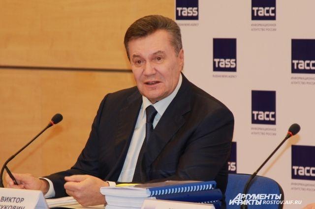 Янукович прокомментировал воссоединение Крыма сРоссией
