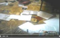 Кадр записи, снятой на видео подозреваемыми в краже.