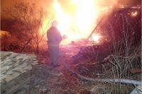 В Бузулуке пожарные потушили крупное возгорание