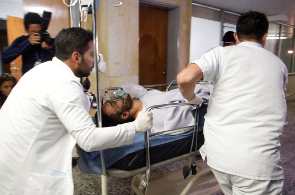 Сообщается, что среди доставленных в больницу есть игроки «Шапекоэнсе».