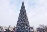 Высота новогодней красавицы 25 метров.