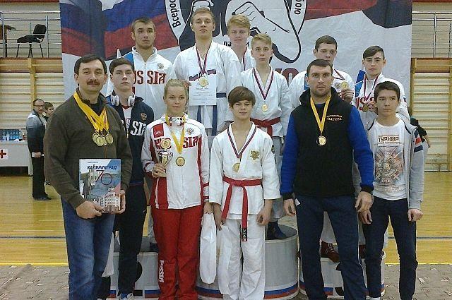 Тульские рукопашники завоевали 8 наград вКалининграде