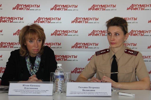 Юлия Плотникова и Татьяна Баландина