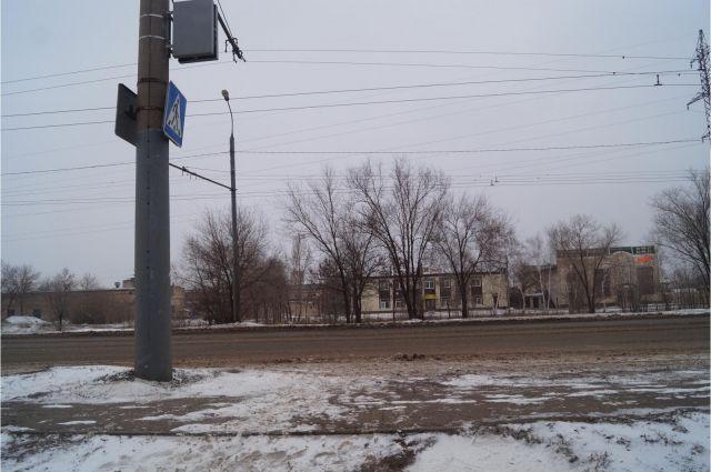 Место, где была сбита 5-летняя девочка.