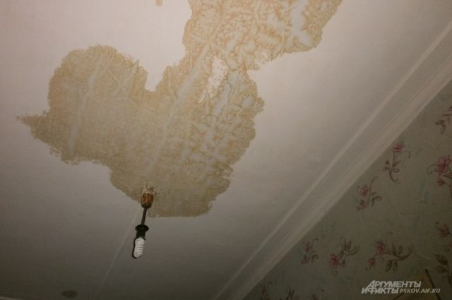 В жилом доме Калининграда из-за капремонта дождем залило верхние этажи.
