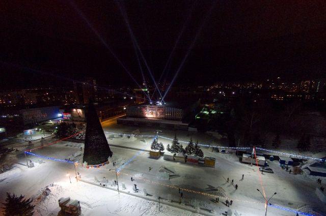 Снежный городок начнут строить через несколько дней