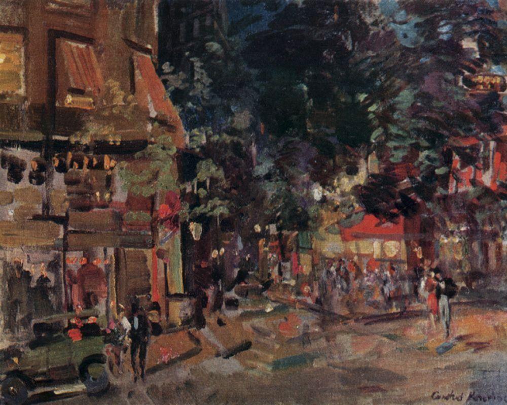 «Монмартр вечером» (1930).