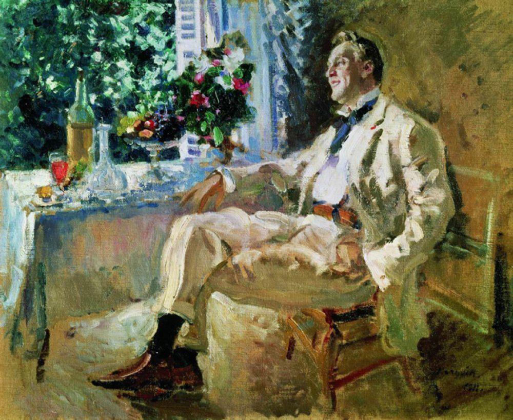 В 1911 году Коровин написал крупный портрет артиста Шаляпина.